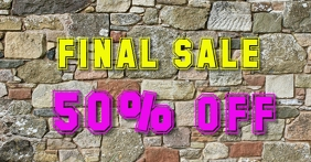 Stone Wall Sale template