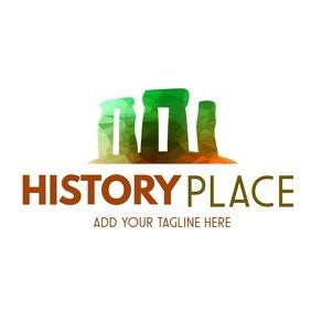 Stonehenge icon colorful logo template