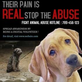 Stop animal abuse awareness design