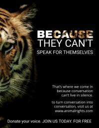 Stop Animal Abuse Awareness Leaflet Template