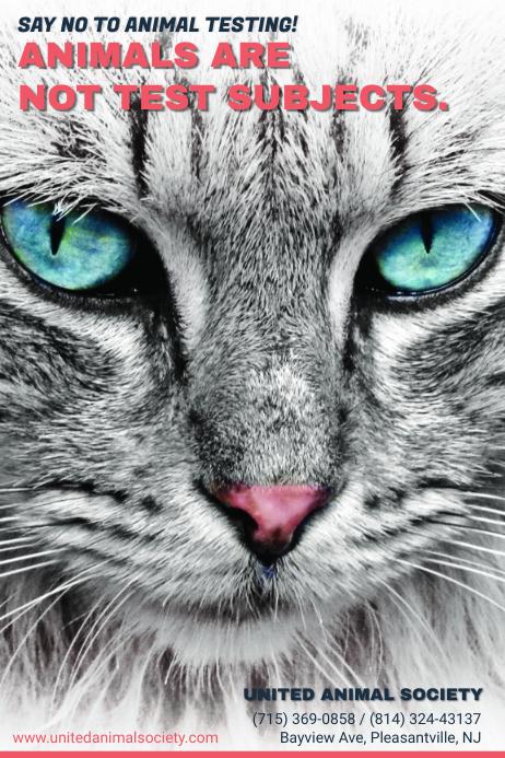 Stop Animal Testing Awareness Poster Template