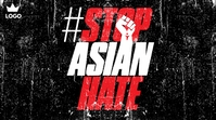 Stop Asian Hate Publicación de Twitter template