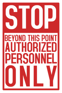Stop Authorized Personnel Work Safety Poster Template