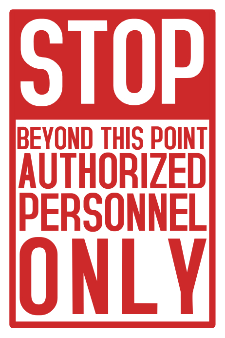 photograph regarding Authorized Personnel Only Sign Printable identify Prevent Accepted Workers Perform Protection Poster Template