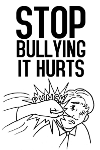 Stop Bullying environment school poster black and white