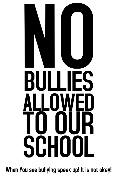 Stop Bullying environment school poster template