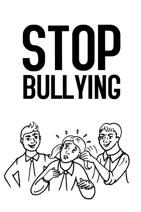 Stop Bullying environment school poster template ...