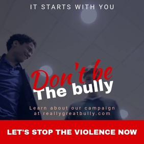 Stop Bullying Instagram Video Template