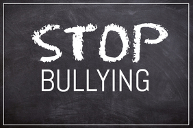 Stop bullying Motivational School poster template