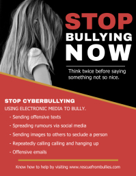 Stop Cyber Bullying Flyer Template