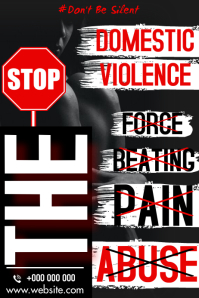 STOP DOMESTIC ABUSE Poster template