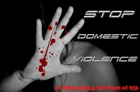 Stop domestic violence Plakat template