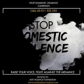 STOP DOMESTIC VIOLENCE Square (1:1) template