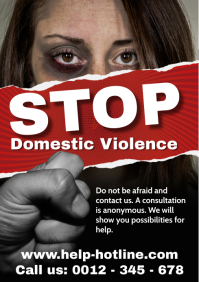 STOP Domestic Violence A4 template