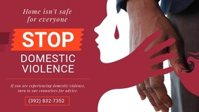 Stop Domestic Violence Facebook Cover Video
