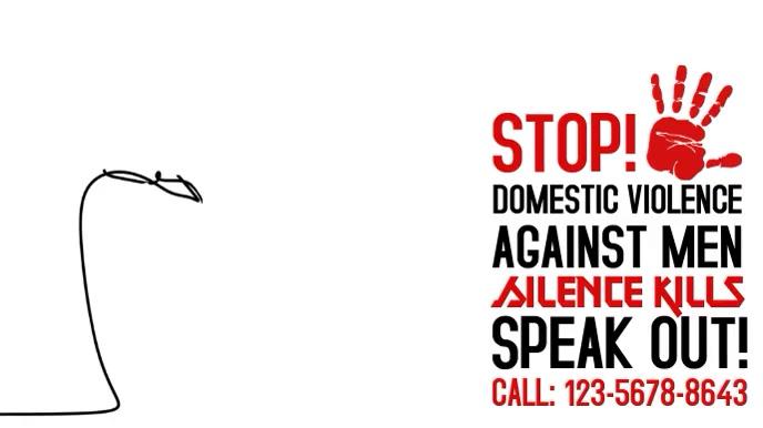 Stop Domestic Violence Video Tampilan Digital (16:9) template