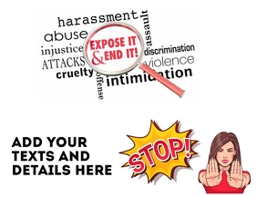 Stop Harassment Flyer (US Letter) template