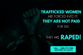 STOP HUMAN TRAFFICKING FLYER Etiket template