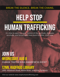 Stop Human Trafficking Poster Template