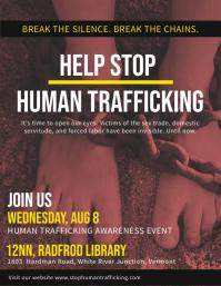 Stop Human Trafficking Poster Template