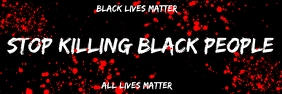 Stop Killing by Black Lives matter Campaign Banner 2 × 6 template