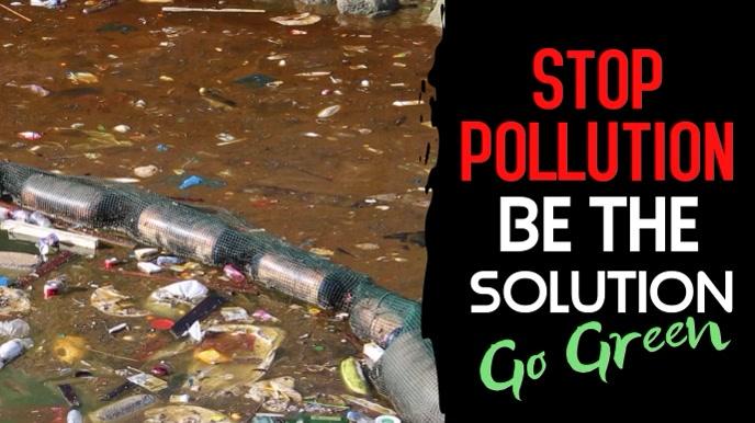 Stop Pollution Video Template Digitalt display (16:9)