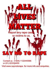 Stop rape flyer A5 template