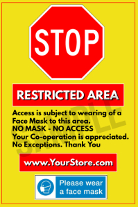 STOP Restricted Area Poster template
