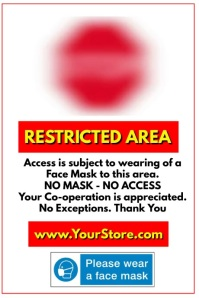 STOP Restricted Area