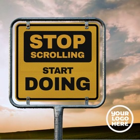 Stop Scrolling Billboard Post