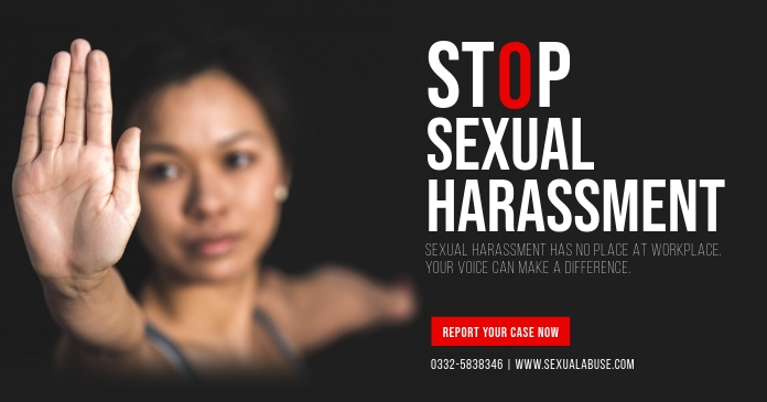 Stop Sexual Harassment at the Workplace Faceb auf Facebook geteiltes Bild template