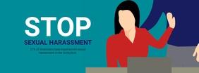 Stop Sexual harassment campaign template Foto Sampul Facebook
