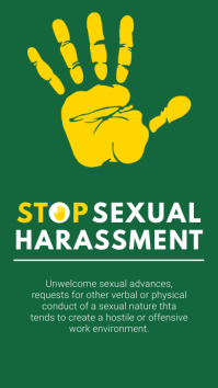 Stop Sexual Harassment Hand Instagram Story T template