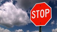 stop sign board YouTube Thumbnail template