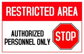 Stop Sign - Stop Area Tabloid template