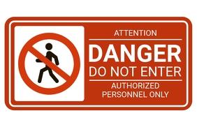 Stop Sign - Stop Area - Danger Area Tabloid template