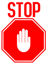 STOP SIGNAL Poster template
