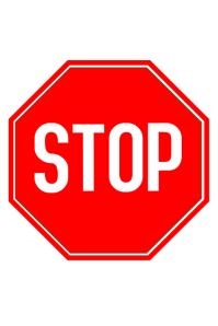 STOP SIGNAL โปสเตอร์ template