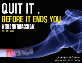 stop smoking no tobacco day flyer advertiseme