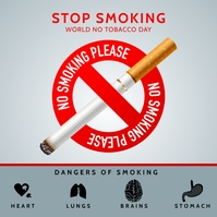 Stop Smoking On World Tobacco Day Template