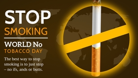 Stop Smoking World No Tobacco Day Template