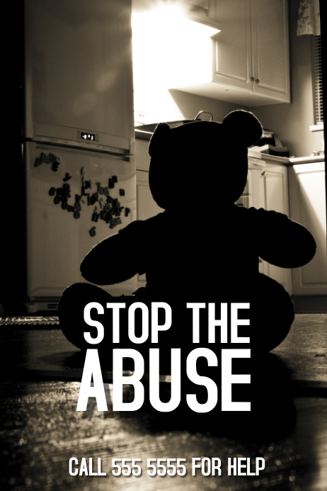 Stop the abuse poster template