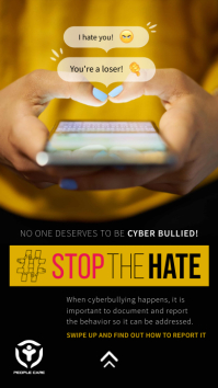Stop the hate Cyberbullying
