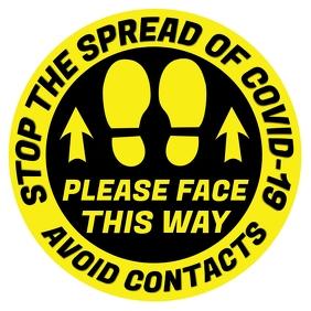 Stop The Spread of Covid-19 Sign Template Quadrato (1:1)