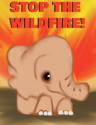 Stop the wildfire ใบปลิว (US Letter) template