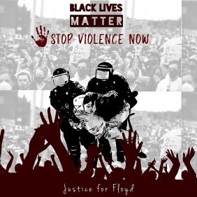 stop violence black lives matter template Instagram-opslag
