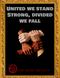 stop violence i cant breath united we stand Flyer (US-Letter) template