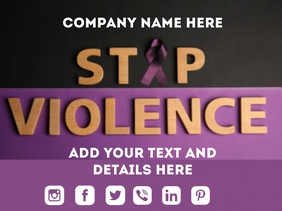 stop violence poster Presentation template