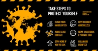 STOP VIRUS FACEBOOK BANNER template