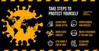 STOP VIRUS FACEBOOK BANNER template